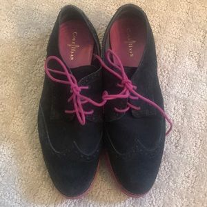 Cole Haan- Lunar Grand Black/ Pink Soles